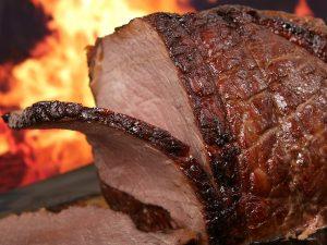 carne assando